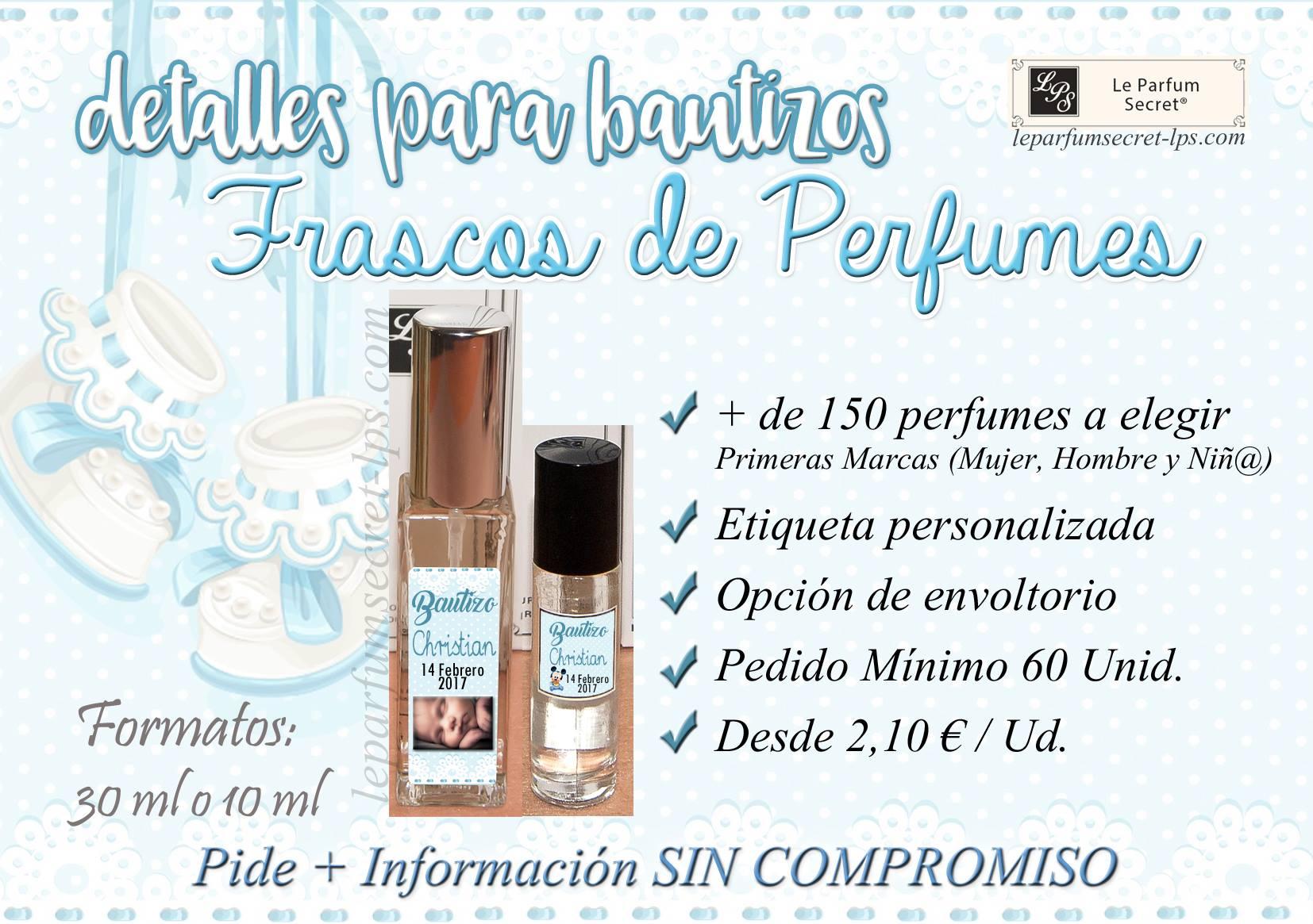 Perfumes personalizados bautizo