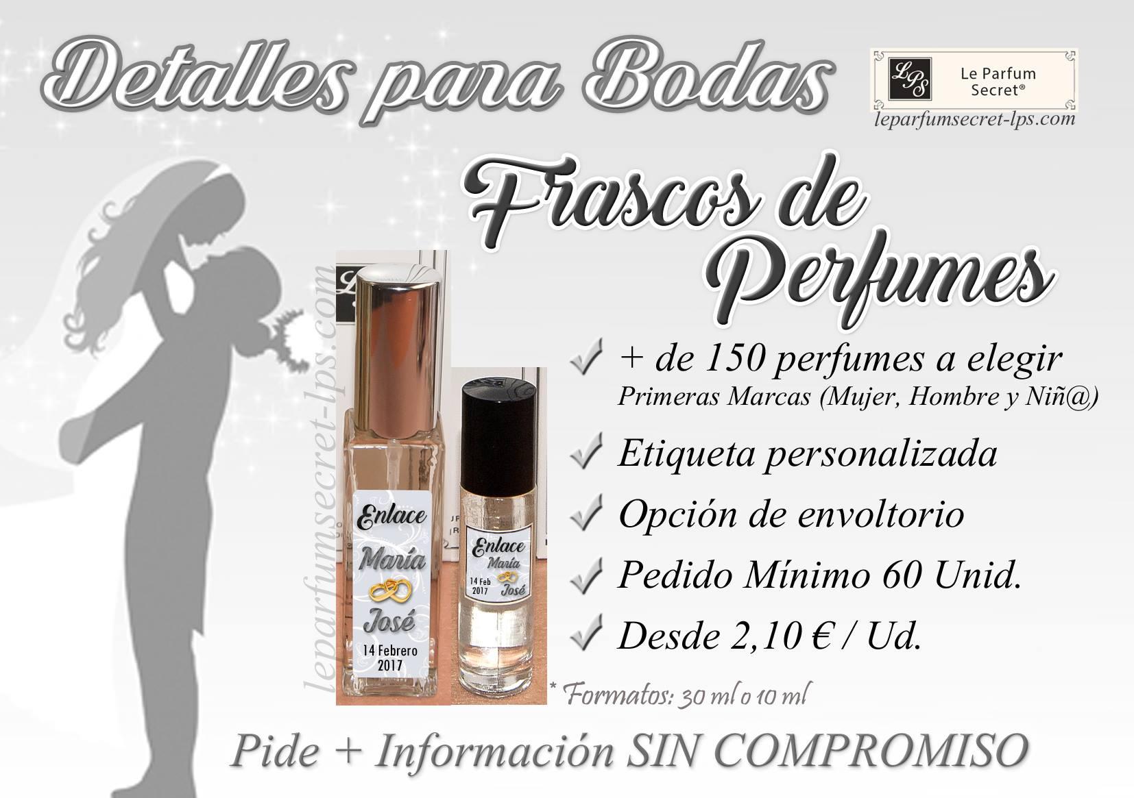 Perfumes personalizados boda