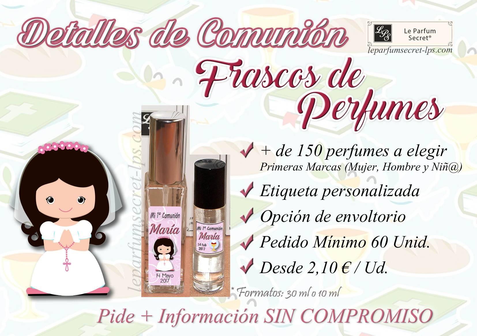 Perfumes personalizados comunión